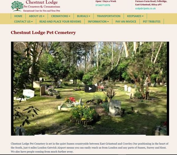 Chestnut Lodge Pet Cemetery