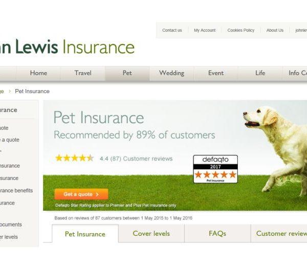 John Lewis pet insurance