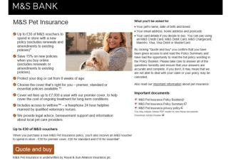 M and S Pet Insurance