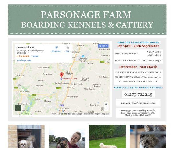 Parsonage Farm Boarding Kennels
