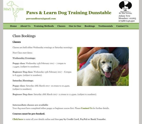 Paws Learn Dog Training