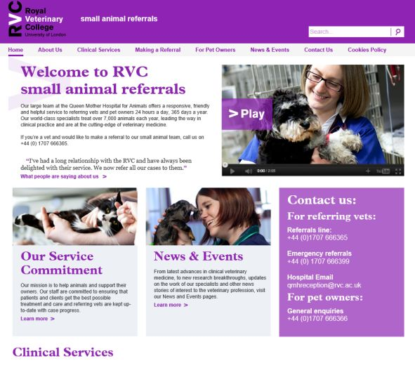 Royal Veterinary College Referrals
