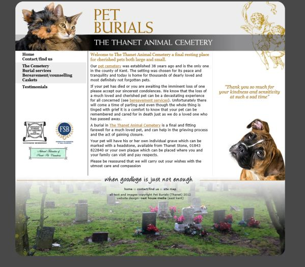 The Thanet Animal Cemetery