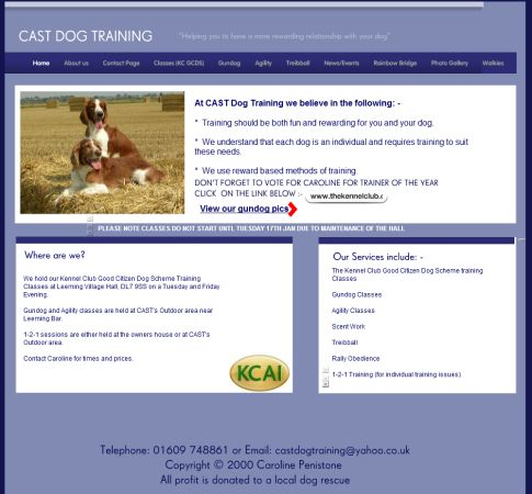 CAST Dog Training