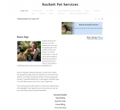 Rockett Personal Pet Services